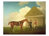 Eclipse at Newmarket, with a Groom and a Jockey, 1770 Lámina giclée por George Stubbs