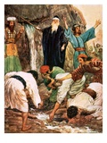Moses Striking the Rock Giclee Print by William Hatherell