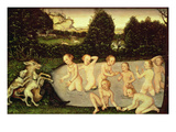 Diana and Actaeon Giclee Print by Lucas Cranach the Elder