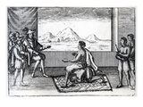 The Meeting of Queen Nzinga of Ndongo and Joao Correia De Sousa the Portugese Govenor of Luanda Giclee Print by  Dutch