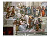 The School of Athens, Detail from the Left Hand Side Showing Pythagoras Reproduction procédé giclée par Raphael