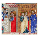 St. John Imprisoned and Sending Two Disciples to Christ (Vellum) Giclee Print by  Italian