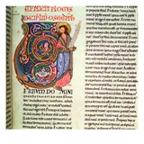 Harl 2803 Vol 1: F.264 the Prophet Hosea, from the Worms Bible, 1148 (Vellum) Giclee Print by  German