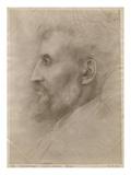 Edouard Lanteri, 1898 (Silverpoint on Cardboard) Giclee Print by Alphonse Legros