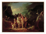 Daniel Boone Escorting Settlers Through the Cumberland Gap, 1851-52 (Oil on Canvas) Giclee Print by George Caleb Bingham