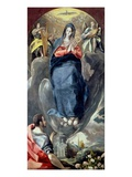 The Immaculate Conception Contemplated by St. John the Evangelist (Oil on Panel) Giclee Print by  El Greco