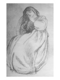 Elizabeth Siddal, C.1853 (Graphite on Paper) Giclee Print by Dante Gabriel Rossetti