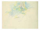 Young Girl Lying Down under a Tree, 1891 (Coloured Pencil on Paper) Giclee Print by Berthe Morisot
