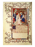 Lat 18014 F.42V the Adoration of the Magi, from Les Petites Heures De Duc De Berry, C.1385-90 Premium Giclee Print by Jacquemart De Hesdin