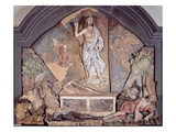 The Careggi Resurrection (Polychrome Terracotta) Giclée-tryk af Andrea del Verrocchio
