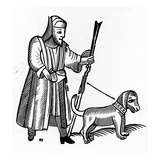 Pilgrim with a Dog (Woodcut) Giclee Print by  English