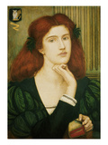 The Lady Prays-Desire (W/C and Gold Paint on Paper) Premium Giclee Print by Marie Spartali Stillman