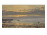 Before Sunrise, Scarborough - Low Water, 1878 (Oil on Canvas) Giclee Print by Henry Moore