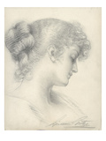 Study for Evensong (Pencil on Paper) Giclee Print by Sigismund Christian Hubert Goetze