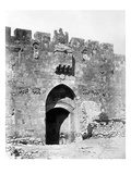 Lions' Gate, Jerusalem, 1857 (B/W Photo) Giclee Print by James Robertson