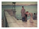 The Kiss, 1891 (Oil on Panel) Giclee Print by Sir Lawrence Alma-Tadema