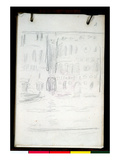 Sketch of Palazzo Dario (Pencil on Paper) Giclee Print by Claude Monet