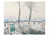 Snow Scene at Moret, C.1894 (Pastel) Giclee Print by Alfred Sisley