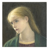Evelyn Hope, 1870 (W/C with Scratching Out) Giclee Print by Edward Clifford