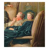The Reading from Moliere, C.1728 (Detail of 29516) Giclee Print by Jean Francois de Troy