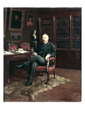 Portrait of Paul Marmottan (1856-1932) in His Study, 1899 Giclee Print by Johan Georg Otto von, count of Rosen
