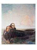 L'Ange Du Destin Giclee Print by Odilon Redon