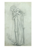Idea for 'La Belle Dame Sans Merci' (Pencil on Paper) (See also 200314) Giclee Print by Elizabeth Eleanor Siddal