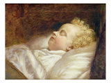 Young Frederick Asleep at Last C.1855 (Oil on Canvas) Giclee Print by George Elgar Hicks