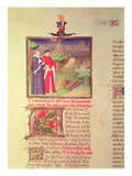 Ms Fr 9141 Fol.217V Scholar and Nobleman, from &#39;Livre Des Proprietes Des Choses&#39; Giclee Print by  Boucicaut Master