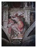 Sistine Chapel Ceiling: Libyan Sibyl, C.1508-10 (Fresco) Premium Giclee Print by  Michelangelo Buonarroti