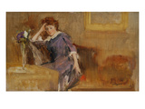 Sketch in the Manner of Whistler, 1880S (Oil on Panel) Giclee Print by Sidney Starr
