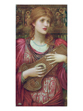 The Music Faintly Falling, Dies Away / Thy Dear Eyes Dream That Love Will Live for Aye, 1893 Giclee Print by John Melhuish Strudwick