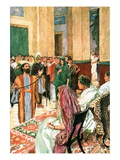 Paul before Agrippa Giclee Print by William Hatherell