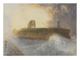 Tynemouth Pier: North-East Wind, 1866 (W/C) Giclee Print by Alfred William Hunt