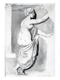Figure Study from the 'Roman Album', 1770 (Pen, Ink and Wash on Paper) Giclee Print by Henry Fuseli
