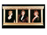 Triple Portrait of a Woman (Oil on Canvas) Reproduction proc&#233;d&#233; gicl&#233;e par John Collier