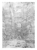 Colonnade in an Egyptian Temple, 1824-32 (Pencil on Paper) Giclee Print by Frederick Catherwood