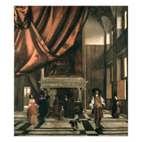 The Council Chamber of the Burgermasters Giclee Print by Pieter de Hooch