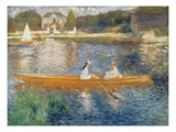 Boating on the Seine, c.1879 Giclée-tryk af Pierre Auguste Renoir
