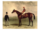 Gladiateur with Harry Grimshaw Up and His Owner, Count Frederic De Lagrange, 1865 Giclee Print by Harry Hall
