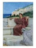 Dolce Far Niente, (W/C) Giclee Print by Sir Lawrence Alma-Tadema