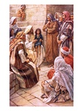 The Little Child Set in their Midst Giclee Print by Harold Copping
