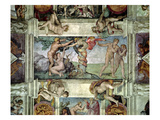 Sistine Chapel Ceiling (1508-12): Expulsion of Adam and Eve from the Garden of Eden Giclee Print by Michelangelo Buonarroti