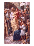 The Lord Blessing the Children Giclee Print by Harold Copping