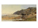 Coastal Scene (Oil on Panel) Giclee Print by Henry Moore