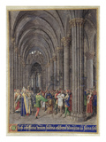 St. Veran Exorcising the Possessed in the North Aisle of the Cathedral of Notre-Dame De Paris Giclee Print by Jean Fouquet