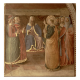 St.Stephen Preaching and St.Stephen Addressing the Council (Fresco) (Detail of 29037) Reproduction procédé giclée par Fra Angelico