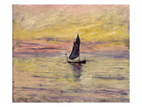 The Sailing Boat, Evening Effect, 1885 Giclee Print by Claude Monet
