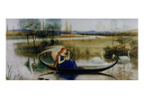 My Soul Is an Enchanted Boat (W/C) Premium Giclee Print by Walter Crane