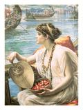 A Roman Boat Race Giclee Print by Edward John Poynter